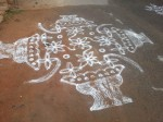 South Indian Tamil Street Art: Kolam