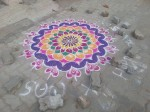 South Indian Tamil Christmas Street Art: Kolam