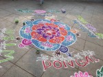South Indian Tamil Street Art for Pongal: Kolam